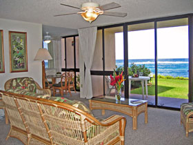 Kuhio Shores Living Room  - click for larger picture